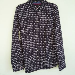 Talbot's Swan Button Up Blouse Size 6p